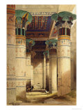 View under the Grand Portico, Philae, from Egypt and Nubia, Vol.1 Giclée-tryk af David Roberts