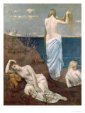 Young Girls by the Sea, Before 1894 Giclee Print by Pierre Puvis de Chavannes