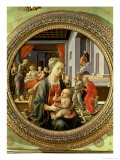 Madonna and Child with Scenes from the Life of the Virgin, 1452 Giclée-tryk af Fra Filippo Lippi