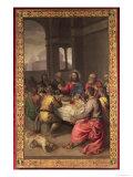 Den sidste nadver Giclée-tryk af  Titian (Tiziano Vecelli)