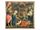 The Nativity with Ss. Michael and Dominic, 1470 Giclée-tryk af Fra Filippo Lippi