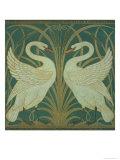 Wallpaper Design For Panel of Swan, Rush and Iris Reproduction procédé giclée par Walter Crane