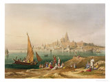 Sacred Town and Temples of Dwarka, Scenery, Costumes and Architecture of India Giclee Print by Captain Robert M. Grindlay