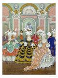 Ballroom Scene, Illustration from Les Liaisons Dangereuses by Pierre Choderlos de Laclos Reproduction procédé giclée par Georges Barbier