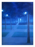 Night Scene in the Parc Royal, Brussels, 1897 Reproduction procédé giclée par William Degouve De Nuncques