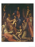 The Holy Family with Saints Giclee Print by Jacopo da Carucci Pontormo