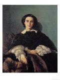 Portrait of the Contessa G. Tempestini Giclee Print by Antonio Puccinelli