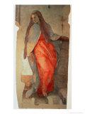 The Annunciation, Detail of the Virgin, c.1527 Giclée-vedos tekijänä Jacopo da Carucci Pontormo