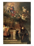 The Virgin Appearing to St. Louis of Toulouse Giclée-tryk af Carlo Dolci