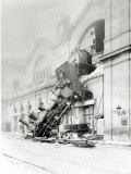 Train Accident at the Gare Montparnasse in Paris on 22nd October 1895 Lámina fotográfica