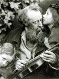 The Whisper of the Rose, a Portrait of George Frederick Watts Lámina fotográfica por Julia Margaret Cameron
