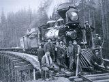 Railroad Construction Crew, 1886 Reproduction photographique