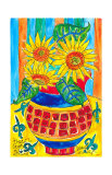 Sunflower Floral Surprise Plakater av Deborah Cavenaugh