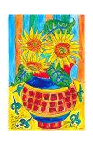Sunflower Floral Surprise Pôsters por Deborah Cavenaugh