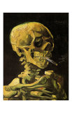 Skull with Burning Cigarette Posters by Vincent van Gogh