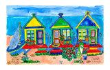 Seaside Row Houses Poster von Deborah Cavenaugh
