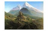 Majesté montagnarde Posters par Caspar David Friedrich