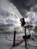 Snow is Made at Ski Roundtop in Lewisberry, Pennsylvania, December 8, 2006 Photographic Print by Carolyn Kaster