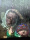 An Ethnic Albanian Refugee Woman Lámina fotográfica