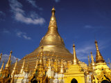 Golden Stupa of Shwedagon Pagoda, Yangon, Myanmar Photographic Print by Inger Hogstrom