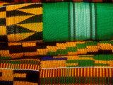 Kente Cloth, Artist Alliance Gallery, Accra, Ghana Fotografisk tryk af Alison Jones