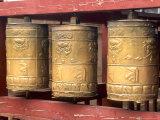 Religious Prayer Wheels, Ulaan Baatar, Mongolia Photographic Print by Bill Bachmann