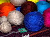 Balls of Yarn, Traditional Textiles, Textile Museum, Casa del Tejido, Antigua, Guatemala Photographic Print by Cindy Miller Hopkins