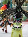 Aztec Indian Dancer, El Pueblo de Los Angeles, Los Angeles, California, USA Photographic Print by Walter Bibikow