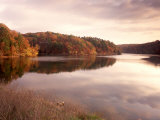 Fall Colors Reflected in Lake, Arkansas, USA Fotografie-Druck von Gayle Harper