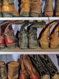 Cowboy Boots at Ranch, Marion, Montana, USA Photographic Print by Chuck Haney