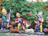 Colorful Garden Gnomes Playing Music Photographic Print