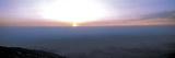 Bright Sunset with Dark Ocean Water Fotografisk trykk