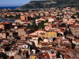 Town View, Bosa, Italy Photographic Print by Wayne Walton
