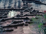 Maijishan Grotto, Gansu, China Lámina fotográfica por Keren Su