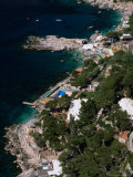 Birds-Eye View of Piccola Marina, Capri, Italy Photographic Print by Stephen Saks