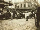 Market Scene, Boston, Massachusetts, c.1909 Foto af Lewis Wickes Hine