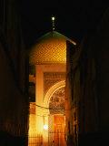 Mosque at Night, Damascus, Syria Photographic Print by Wayne Walton