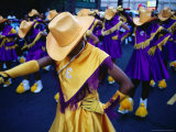 Marching Girls Participate in International District Parade, Seattle, Washington, USA Photographic Print by Lawrence Worcester