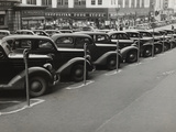 Black Cars and Meters, Omaha, Nebraska, c.1938 Foto af John Vachon