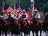 Equestrian Riders in 4th of July Parade on Constitution Avenue, Washington DC, USA Photographic Print by Levesque Kevin