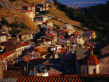 Rooftops of Santu Lussurgiu, Italy Fotografie-Druck von Damien Simonis