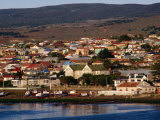 Town from Harbour, Punta Arenas, Chile Photographic Print by Wayne Walton
