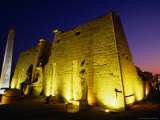 Ancient Temple at Night, Luxor, Egypt Photographic Print by Wayne Walton