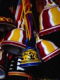 Ceramic Bells for Sale, Siena, Italy Fotografie-Druck von Damien Simonis