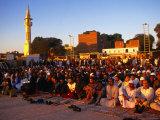 Eid-Al-Fitr Prayers Ending Ramadan, Edfu, Egypt Photographic Print by Wayne Walton