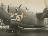 Nose Art on a B24 Liberator, c.1945 Foto