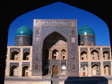 Entrance to Mir-I-Arab Medressa, Uzbekistan Photographic Print by Martin Moos