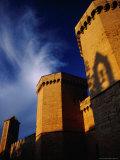 Detail of Porta Reial, Monestir De Poblet, Spain Fotografie-Druck von Damien Simonis