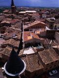 Looking Over Town from Gran Torre O Palacio Real, Olite, Spain Fotografie-Druck von Damien Simonis