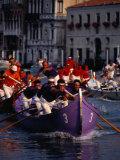 Caorline Regatta During Historiccal Regatta Pageant in Grand Canal, Venice, Veneto, Italy Fotografie-Druck von Roberto Gerometta